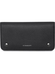 Burberry Leather Phone Wallet Black