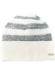 Woolrich Striped Beanie Nude And Neutrals