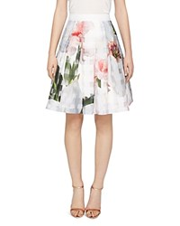 Ted Baker Vanta Burnout Chatsworth Skirt Natural