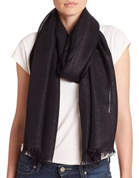 Lord And Taylor Shimmer Frayed Scarf Black