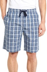 Nordstrom Men's Men's Shop Poplin Lounge Shorts Navy Limoges Plaid