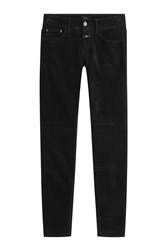 Closed Baker Velvet Skinny Jeans Black