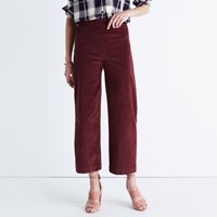 Madewell Wide Leg Crop Jeans In Corduroy