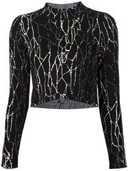 Jonathan Simkhai Cropped Sweater Black