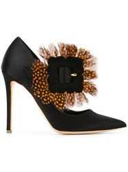 Rupert Sanderson Feather Detail Pumps Black
