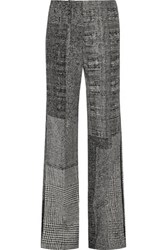 Jason Wu Wool Jacquard Wide Leg Pants Gray