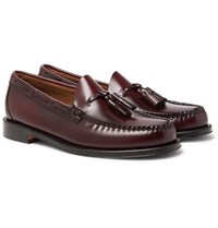 G.H. Bass Weejuns Larkin Leather Tasselled Loafers Burgundy