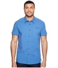 Kenneth Cole Short Sleeve Stretch Ripstop Shirt Bright Cobalt Men's Clothing Blue