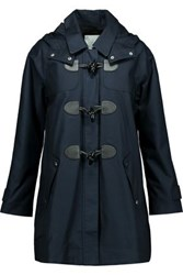 Joie Hester Cotton Hooded Coat Midnight Blue