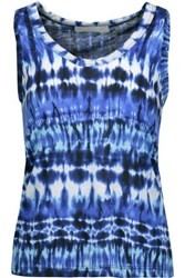 Kain Label Beryl Printed Stretch Modal Tank Blue