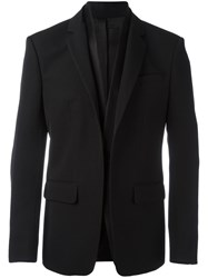 Givenchy Layered Lapel Blazer Black