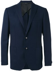 Tonello Patch Pockets Blazer Blue
