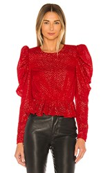 House Of Harlow 1960 X Revolve Darya Blouse In Red.
