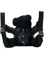 Versus Plush Dog Backpack Black