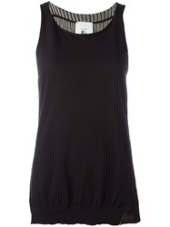 Lost And Found Rooms Knit Tank Top Women Cotton M Black