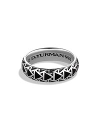 Frontier Band Ring With Nevada Silk Stone David Yurman Silver