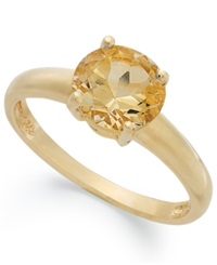 Victoria Townsend 18K Gold Over Sterling Silver Ring Citrine November Birthstone Ring 1 1 3 Ct. T.W.