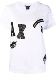 Armani Exchange Patch Detailed T Shirt White