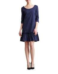 Paper Crown Florence Ruffled Dress Blue