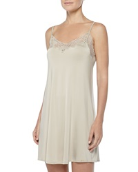 Hanro Universe Of Hanro Lace Trimmed Chemise Gold Gray