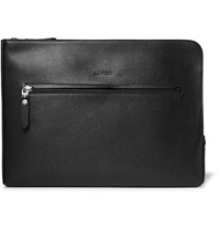 Lanvin Full Grain Leather Portfolio Black