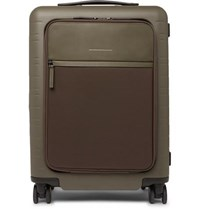 Horizn Studios Model M 55Cm Polycarbonate Nylon And Leather Carry On Suitcase Army Green