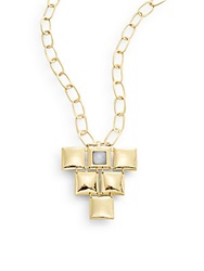 Stephanie Kantis Mini Flapper Quartz And 24K Yellow Gold Pendant