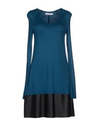 Velvet Short Dresses Deep Jade