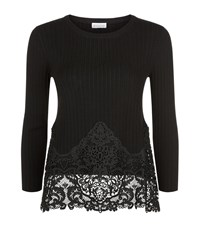 Claudie Pierlot Maxi Lace Trim Sweater Female Black
