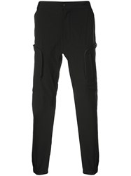 White Mountaineering Tapered Leg Cargo Trousers Black