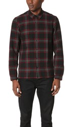 The Kooples Gauze Plaid Shirt Red Black