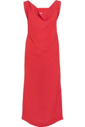 Vivienne Westwood Anglomania Ridge Cutout Crepe Dress Red
