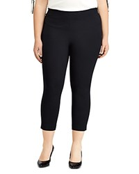 Ralph Lauren Plus High Rise Skinny Ponte Pants Black