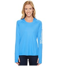 Columbia Tidal Tee Hoodie Harbor Blue White Women's Sweatshirt