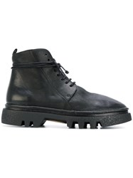 Marsell Chunky Sole Combat Boots Men Leather Rubber 42.5 Black