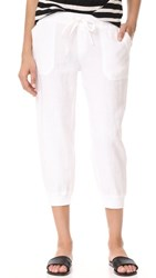 Three Dots Cropped Joggers White