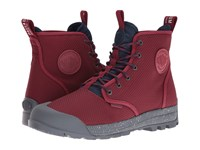 Palladium Pampatech Hi Tx Maroon Navy Lace Up Casual Shoes Brown