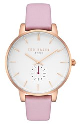 Ted Baker London Olivia Leather Strap Watch Pink White Rose Gold