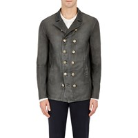 John Varvatos Suede Double Breasted Jacket Gray