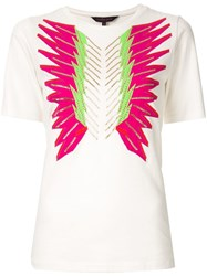 Manish Arora Crystal Embroidered T Shirt White