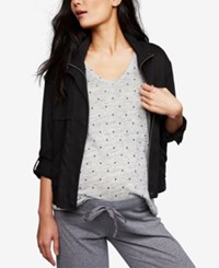A Pea In The Pod Maternity Open Front Jacket Black