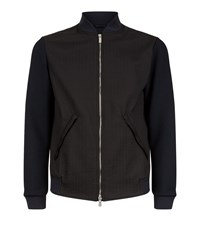 Armani Collezioni Quilted Contrast Bomber Jacket Male Black