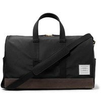 Thom Browne Suede Trimmed Canvas Holdall Black