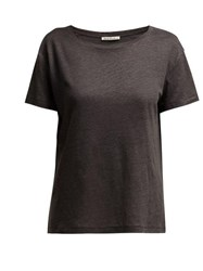 Acne Studios Eldora Linen T Shirt Dark Grey