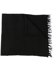 Ann Demeulemeester Textured Knitted Scarf 60