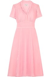 Hvn Morgan Velvet Dress Baby Pink