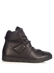 Loewe Leather High Top Trainers Black