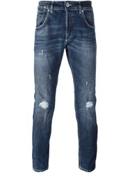 Dondup 'Conway' Distressed Jeans Blue