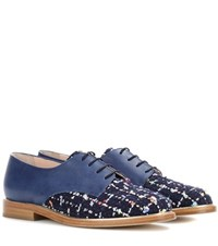 Oscar De La Renta Leather Oxford Shoes Blue