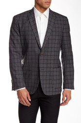 Wallin And Bros Trim Fit Check Wool Sport Coat Gray